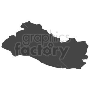 el salvador vector shape clipart. Commercial use image # 416097