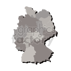 clipart - germany gray vector clipart.