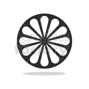 lemon slice vector icon clipart. Commercial use image # 416228