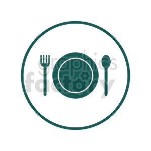 dinner setting vector clipart clipart. Commercial use image # 416243