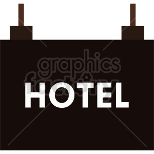 hotel sign clipart clipart. Commercial use image # 416345