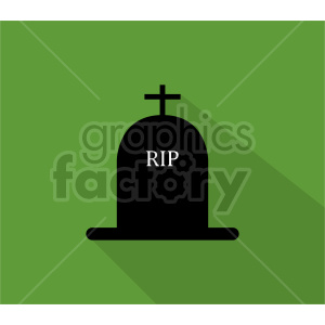 rip tombstone graphic on green background clipart. Commercial use image # 416379