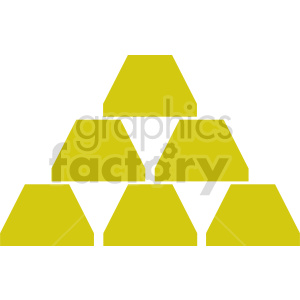 stack gold bars vector clipart