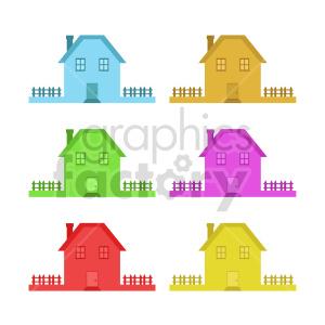 house bundle vector clipart clipart. Commercial use image # 416478