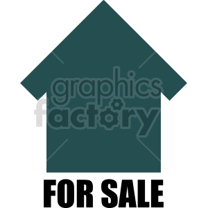 home for sale vector icon clipart. Commercial use image # 416504