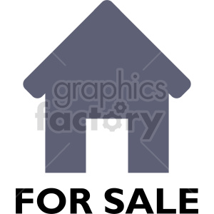 house for sale vector clipart clipart. Commercial use image # 416509