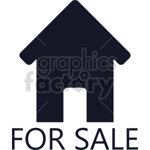 house for sale graphic clipart. Commercial use image # 416529