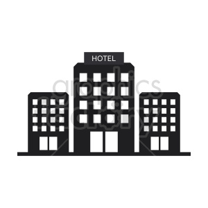 hotels vector graphic icon clipart. Commercial use image # 416533