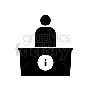 information desk vector clipart clipart. Commercial use image # 416538