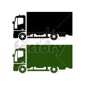 clipart - box truck vector clipart set.