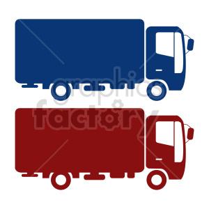 clipart - box truck vector graphic bundle.