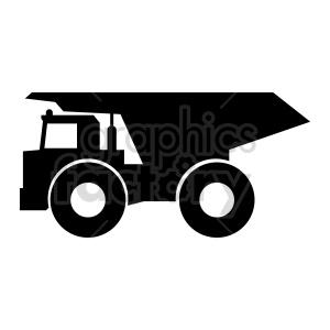 clipart - huge dump truck vector icon.