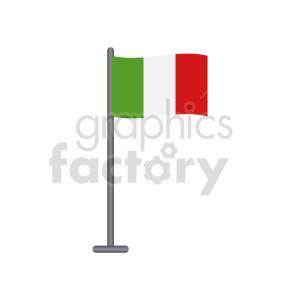 clipart - small italian flag vector clipart.