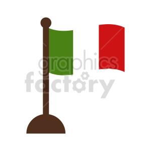 clipart - italy waving flag vector clipart.