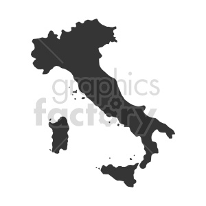 italy silhouette clipart