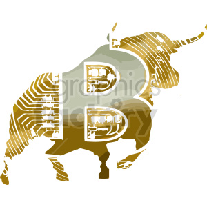 bitcoin bull vector clipart clipart. Commercial use image # 416690