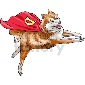 dogecoin superdog vector clipart clipart. Commercial use image # 416705