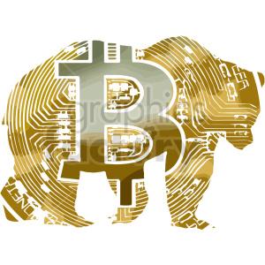 bitcoin bear vector clipart clipart. Commercial use image # 416707