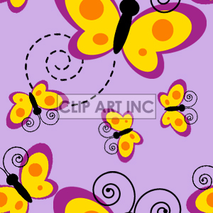 Tiled butterfly background clipart. Commercial use image # 128189