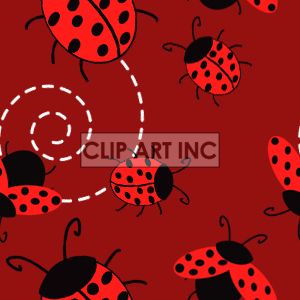 tiled ladybug background clipart. Commercial use image # 128199