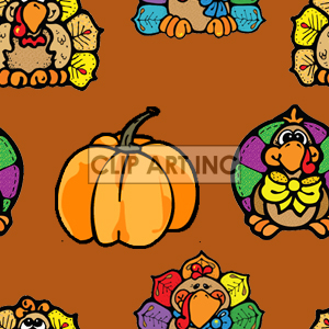 background backgrounds tiled bg thanksgiving pumpkin pumpkins turkey turkeys   102905-turkeys Backgrounds Tiled