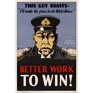 Better Work To Win Poster clipart. Royalty-free image # 152905