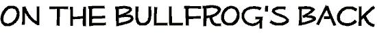 mufferaw font. Royalty-free font # 174639