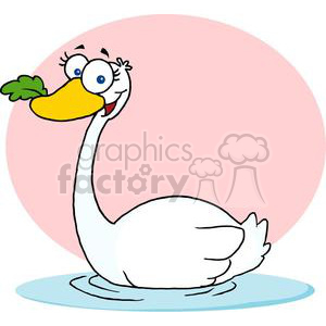 Swan A swimming  clipart. Royalty-free image # 377888