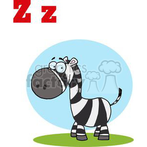 Zebra for Alphabet letter Z clipart. Royalty-free image # 377902