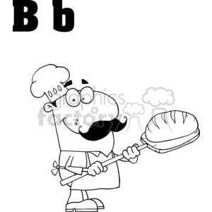 B as in Baker clipart. Commercial use image # 377932