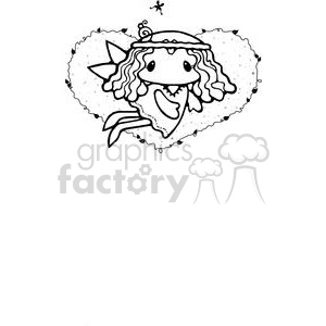 small fairy with a big heart clipart. Commercial use image # 380222