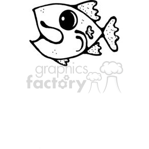 cartoon little fish clipart. Royalty-free image # 380232