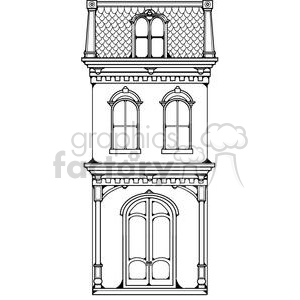 Royalty Free Home Victorian Row House 380247 Vector Clip