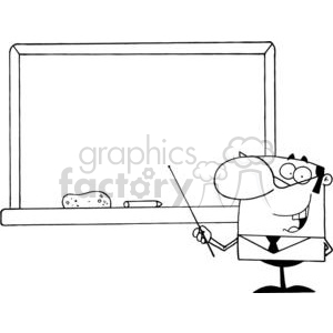 2986-School-Teacher-With-A-Pointer-Displayed-On-Chalk-Board clipart. Royalty-free image # 380267