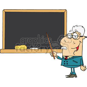 2993-School-Professor-Displayed-On-Chalk-Board clipart. Commercial use image # 380302