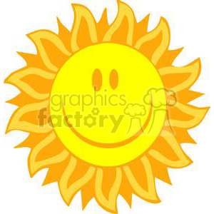 2743-Hot-Sun-Cartoon-Character clipart. Royalty-free image # 380312