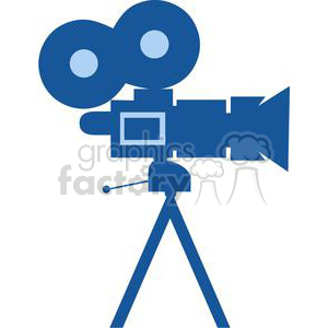 Movie Camera clipart. Royalty-free image # 380382