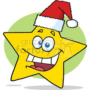3015-Happy-Chrismas-Star-Smiling clipart. Commercial use image # 380437