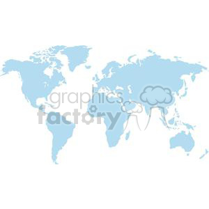 Vector World Map clipart. Commercial use image # 380442