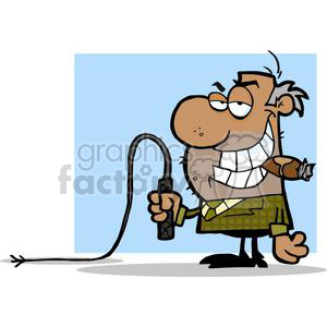 2826-African-American-Big-Boss-With-A-Whip-In-His-Hand clipart. Commercial use image # 380447