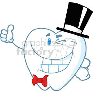2980-Smiling-Gentleman-Tooth clipart. Commercial use image # 380467