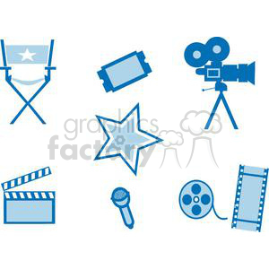 2798-Movie-Set-8 clipart. Royalty-free image # 380482