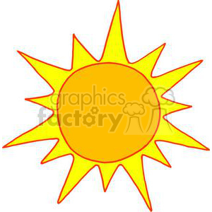 Hot Sun Cartoon clipart. Royalty-free image # 380487