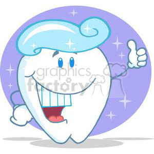 2957-Smiling-Tooth-Cartoon-Character-With-Toothpaste clipart. Royalty-free image # 380502