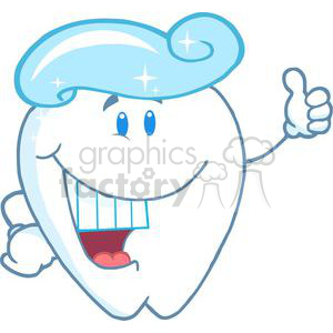2956-Smiling-Tooth-Cartoon-Character-With-Toothpaste clipart. Royalty-free image # 380507
