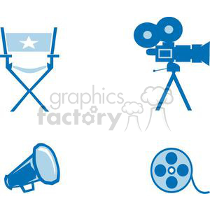 2795-Movie-Set-5 clipart. Royalty-free image # 380517