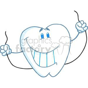cartoon teeth clipart. Royalty-free image # 380522