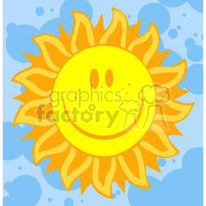 2744-Hot-Sun-Cartoon-Character clipart. Royalty-free image # 380532