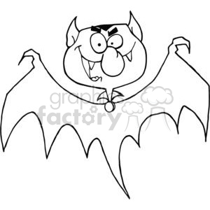 cartoon vector occassions funny Halloween October scary bat bats vampire vampires Count Dracula black white