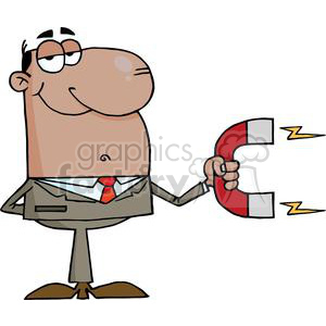 3148-African-American-Businessman-Using-A-Magnet clipart. Royalty-free image # 380671